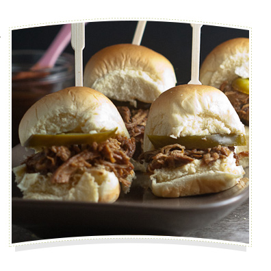 Apple Butter Asian Pulled Chicken Sliders