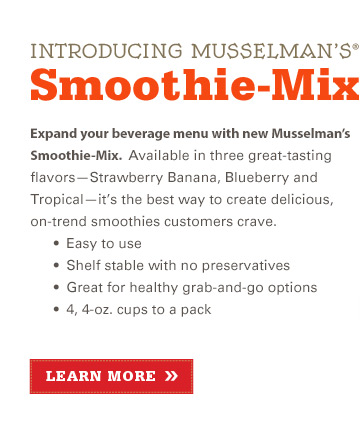Introducing Musselman's(R) Smoothie-Mix