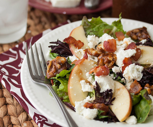Apple, Bacon and Goat Cheese Salad