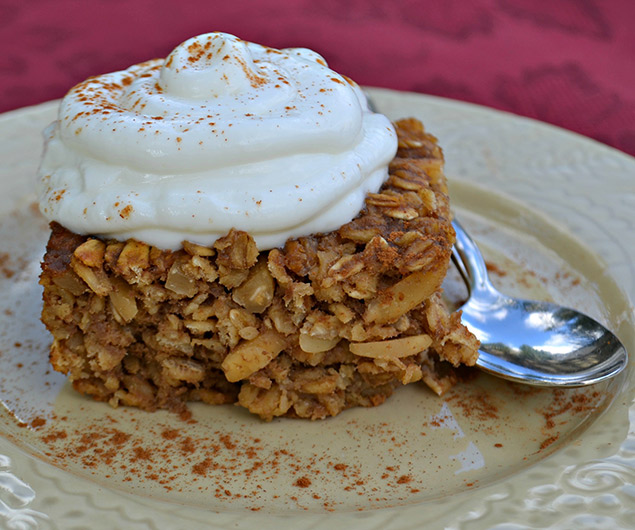 Apple Butter Baked Oatmeal