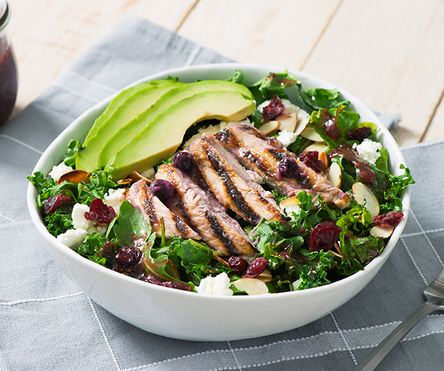 Blueberry & Dijon Grilled Chicken and Goat Cheese Salad