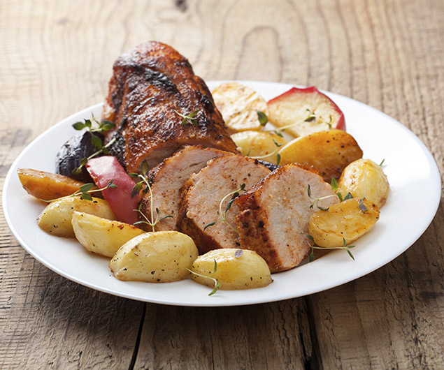 Caraway Pork and Apples