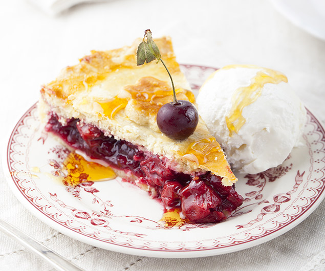 Fluffy Cherry Lemon Pie