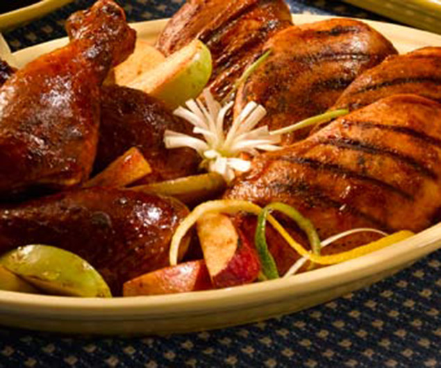 Grilled Chicken or Turkey with Cherry BBQ Sauce