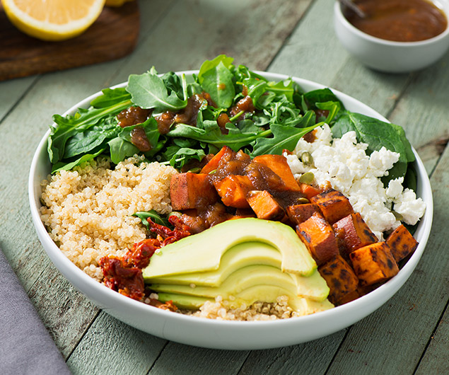 Harvest Quinoa Bowl with Apple Vinaigrette