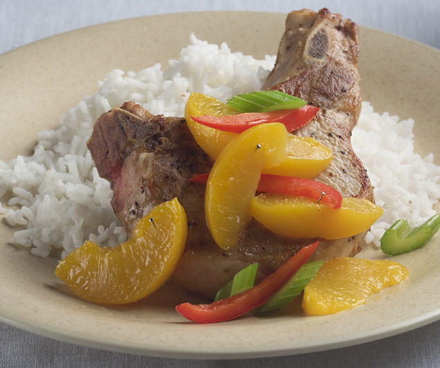 Peachy Pepper Pork Chops