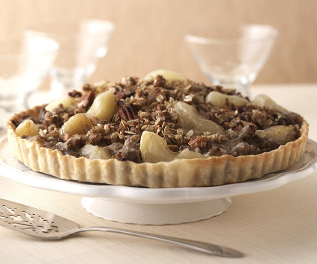 Maple Sausage, Apple, and Sweet Onion Brunch Tart