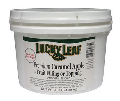 Premium Caramel Apple Fruit Filling or Topping - 9.5 lb Pail