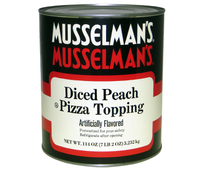 Pizza Topping: Diced Peach - 114 oz.