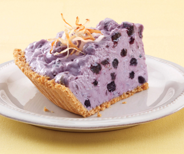Blueberry Cream Pie with Toasted Coconut