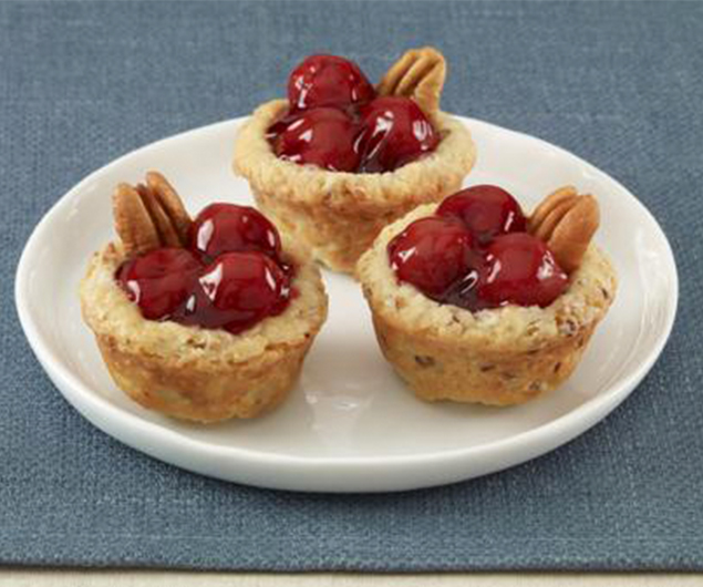 Mini Cherry Pecan Pies