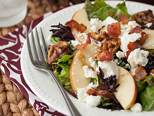 Apple, Bacon & Goat Cheese Salad