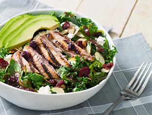 Blueberry Dijon Grilled Chicken & Goat Cheese Salad