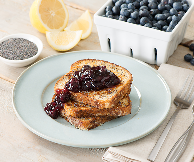 Lemon-Blueberry Poppy Seed French Toast