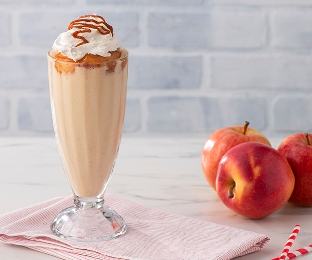 Salted Caramel Apple Pie Milkshake