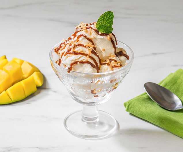 Tropical Mango Habanero Apple Butter Ice Cream Sundae