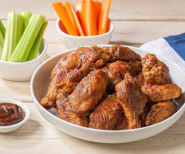 Sweet and Spicy Mango Habanero Apple Butter Wings